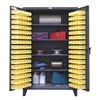 Strong Hold 36-BS-244 Bin Cabinet, H 78, W 36, 4 Shelves, 94 Bins