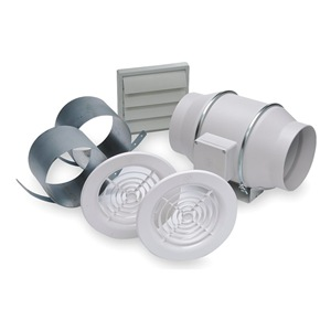 Soler & Palau Mixed Flow Duct Fan, 8-3/8 In. L, Ball at Sears.com