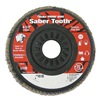Weiler 50117 Arbor Mount Flap Disc, 4-1/2in, 40, Coarse