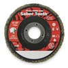 Weiler 50106 Arbor Mount Flap Disc, 4-1/2in, 60, Coarse