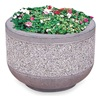 Wausau Tile TF4075B1 Concrete Security Planter, Round, Gray