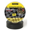 Stanley 3ZGJ6 Electric Tape, 3/4 In, 66 Ft, 7 Mil, Black