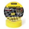 Stanley 3ZGK4 Electric Tape, 3/4 In, 66 Ft, 7 Mil, Yellow