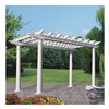 Suncast R812VP Pergola, H 8 Ft 6 In, W 13 Ft, White Vinyl