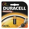Duracell MN27BPK Battery, MN27, Alkaline, 12V