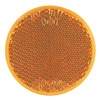 Truck-Lite Co Inc 45A Reflector, Adhesive, Yellow, Round, PK 10