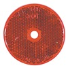 Truck-Lite Co Inc 52 Reflector, Center Mount, Red, Round, PK 10