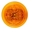 Truck-Lite Co Inc 10385Y Marker/Clearance Lamp, Round, Yellow, PK 2