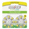 Rayovac L10ZA-16ZM Hearing Aid Battery, Size 10, Yellow, PK16