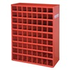 Durham 363-17-S1156 Bin Storage Unit, D 12 In, 72 Bins, Red