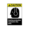 Brady 45071 Caution Sign, 10 x 7In, YEL and BK/WHT, ENG