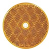 Approved Vendor B476A Center Mount Reflector, Amber, Pk 10