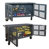 Durham PJ-2460-LP-95 Two Sided Mesh Security Cart, Steel