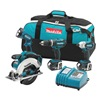 Makita LXT405/BJR182Z Combo Kit W/Recip Saw, 18 V, 4 Pcs