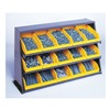 Quantum QPRHA-107BL Sloped Shelving, 12 Drawers, Blue