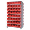 Quantum QRU-16D-220230240RD+QRU-MOB Double Sided Mobile Bin Unit, 100 Drawers