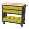Akro-Mils MA3618CASTYEL Louvered Cart, 37 In. L, 36 In. H, 18 In. W
