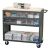 Akro-Mils MA3618CASTCRY Louvered Cart, 37 In. L, 18 In. W, 36 In. H