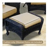 Chicago Wicker & Trading CO D-CUSH3280O-F510-P105-W SS BGE Ottoman Cushion