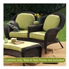 Chicago Wicker & Trading CO D-CUSH3280TAT-P104/P104-W SS 4PC Kiw Tete Cushion
