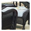 Chicago Wicker & Trading CO D-CUSH3280O-F523 SSh BLU Ottoman Cushion
