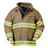Fire-Dex 32X6J868-S Turnout Coat, Khaki, S, Nomex/Kevlar