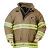 Fire-Dex 32X6J868-3X Turnout Coat, Khaki, 3XL, Nomex/Kevlar