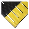 Wearwell 475.38x3x30SLTBYL Anti-Fatigue Mat, Wet Area, Blk/Ylw, 3x30ft