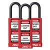 Zing 7086 Lockout Padlock, KA, Red, 1/4 In., PK3