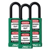 Zing 7090 Lockout Padlock, KA, Green, 1/4 In., PK3