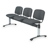 Safco 7405BL Reception Seating, 3 Seat, Black, Steel