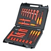 Knipex 98 99 12 Insulated Tool Set, Metric, 1/2 In Dr, 26Pc