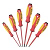 Witte 9T 653742 Screwdriver Set, Insulated, Slotted/Ph, 6Pc