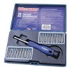 Westward 10J372 Multi-Bit Screwdriver, Non-Magnetic, 20 Pc