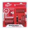 Milwaukee 48-32-4403 Driver Bit Set, 18 Pc, 1/4 In Shank