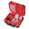 Milwaukee 49-22-4145 Hole Saw Kit, Ice Hard, 1-5/8 In, 10 Pc