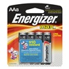 Energizer E91MP-8 Battery, Alkaline, AA, PK 8