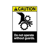 Brady 45175 Caution Sign, 10 x 7In, YEL and BK/WHT, ENG
