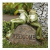 Allen Group Intl Inc AG23792E Frogs On Welcome Stone