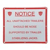 Dayton 26W611 Stabilizing Jack Sign, Aluminum, 9-7/8 In
