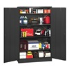 Edsal 4000BLK Storage Cabinet, Unassembled, Black, 22 ga.