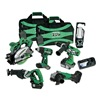 Hitachi KC18DG6L Cordless Combo Set, 6 Tool, 18 V