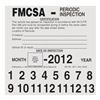 Jj Keller 360-SN FMCSA Periodic Inspection Label, 5 x 5 In