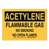 Brady 125561 Chemical Sign, Polyester, 7 x10 in, Blk/Ylw