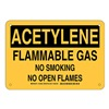 Brady 125560 Chemical Sign, Plastic, 7 x 10 in, Blk/Ylw
