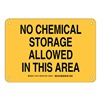 Brady 125737 Chemical Sign, Plastic, 7 x 10 in, Blk/Ylw