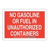 Brady 125743 Chemical Sign, Plastic, 7 x 10 in, Wht/Red