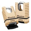 Master Lock 1177 Combo Padlock, Resettable, 4 Dial, Brass