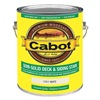 Cabot 140.0017411.007 Stain, White, Semi-Solid Flat, 1 gal.