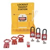 Zing 6063 Lockout Station, Filled, Elctrical, 3 Locks